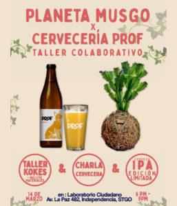 TALLER PLANETA MUSGO + CERVECERIA PROF