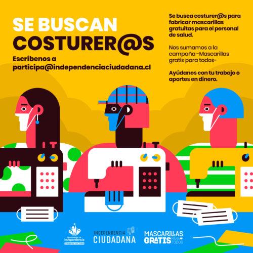 SE BUSCAN COSTURER@S PARA FABRICAR MASCARILLAS GRATIS PARA CENTROS DE SALUD