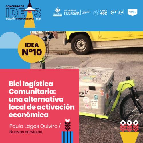 10. Bici logística Comunitaria: una alternativa local de activación económica