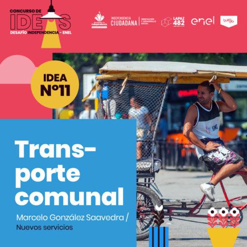 11. Transporte comunal sustentable