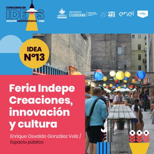 13. Feria Indepe Creaciones, Innovación y Cultura
